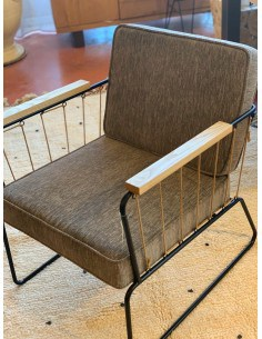 Fauteuil Athis tissu Gris
