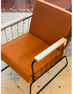 Fauteuil Athis Velour orange