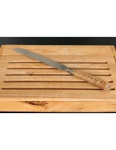 Couteau à pain manche rotin