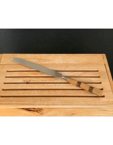 Couteau à pain inox et manche bois