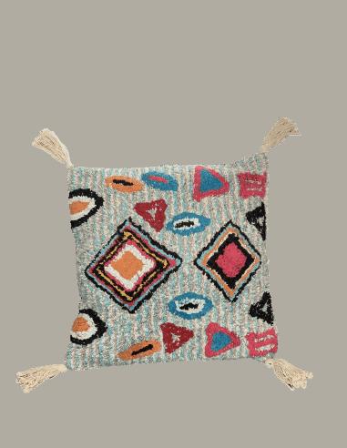 Coussin marrakech 45x45cm naturel