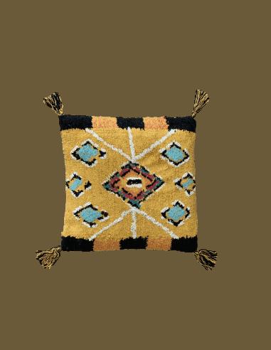 Coussin safi 45x45cm jaune