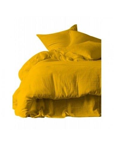Draps de lit coton 270x300 gamme dili harmony safran