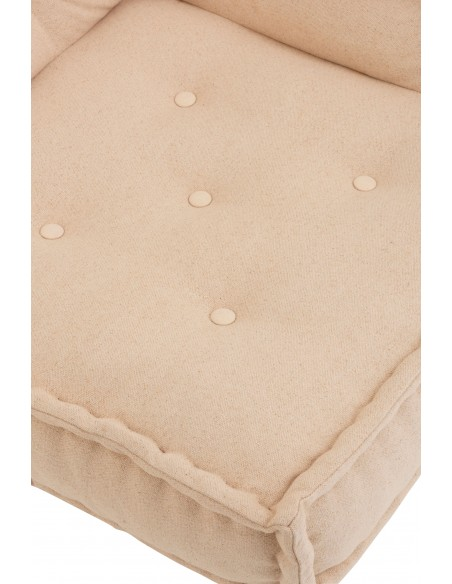 Coussin angle coton beige