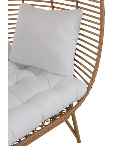 Chaise lounge ovale en acier naturel