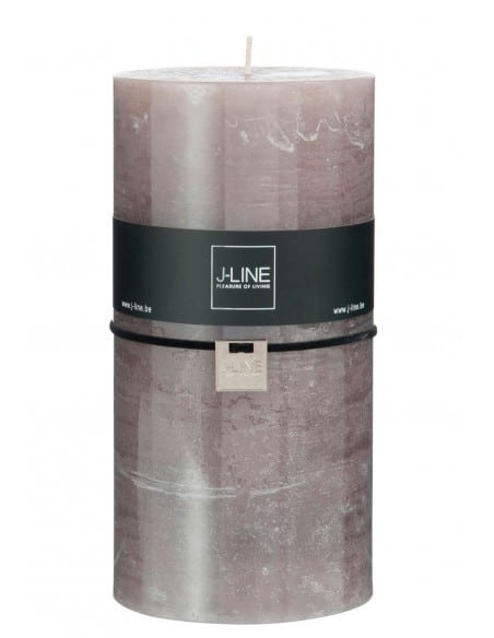 Bougie cylindrique taupe XXL - 140 heures