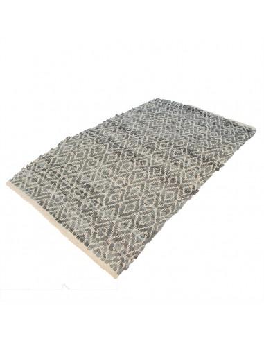 Tapis Quadrado cuir gris 60x90