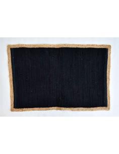Tapis Indira noir