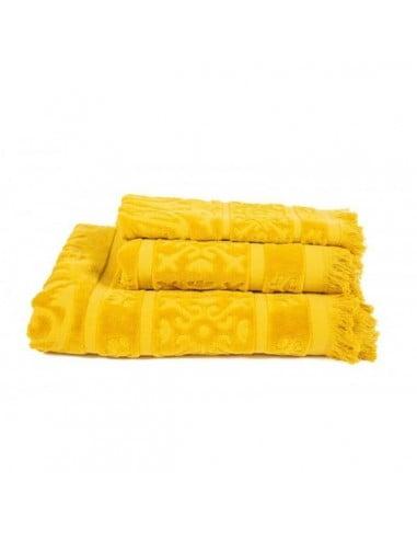 Drap de bain sumatra harmony safran