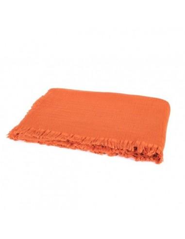Plaid / Couvre-lit en coton lavé...