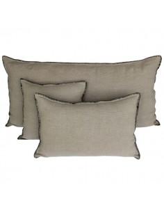 Housse de coussin en lin brut épais MANSA - Harmony Textile