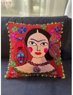 Coussin Frida Kahlo Rouge