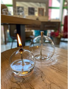 Lampe à huile ronde