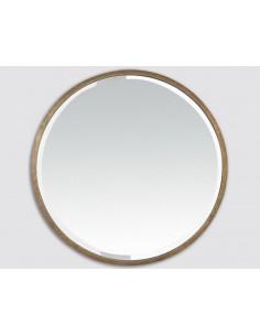 Miroir rond métal doré 60cm
